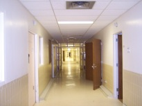 Hallways were in good condition