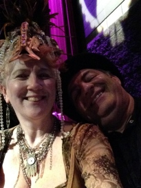 Ben and Paranormal Rona at the 2nd Edmonton Steampunk Monster Ball