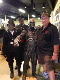 Ben with amazing costumed guys at HorrorCon 2014